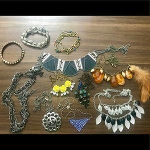 11 piece necklace and bracelet lot!